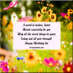 ... Birthday Wishes- Poems - To Sister - To Write In Your Sisters Birthday