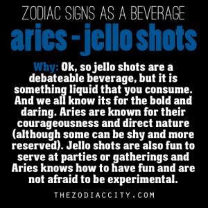 Zodiac signs as a beverage - Aries, Jello Shots.