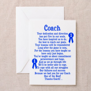 ... Greeting Cards > Coach Thank You Greeting Cards (Pk of 10