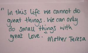 el poema de la madre teresa que escribí hace dos años daisyvegablog ...