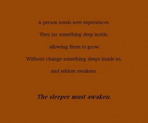 Quote, change, Dune, awaken