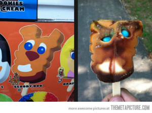 Funny photos funny Scooby Doo ice cream face