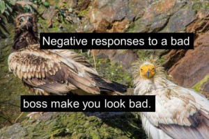 How bad bosses make you look bad.