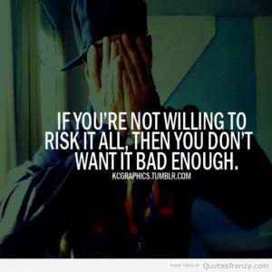 bad Life Risks Motivation