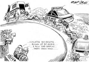 Political Cartoons On Police Brutality