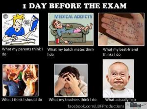 day before exam