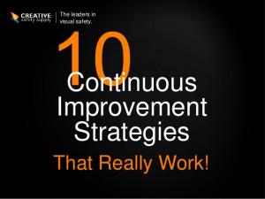 Continuous Process Improvement Idea