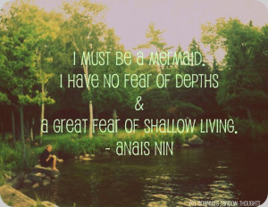 Balsam Lake, Ontario. Anais Nin quote.