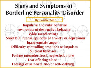Signs of Borderline Personality Disorder
