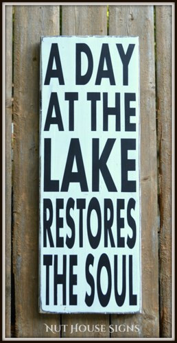 Lake Decor Signs House Wall Art Wood Sign Rustic Home Gift Plaque