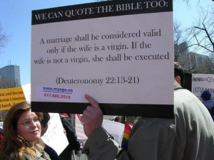 Gays Can Quote The Bible Too