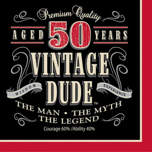 vintage men s 50th birthday luncheon napkins vintage 50th birthday ...