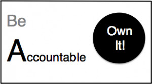 be accountable own it