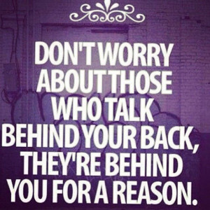 People Talk Behind Your Back Quotes