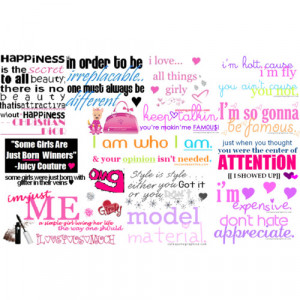 Girly sayings - Polyvore