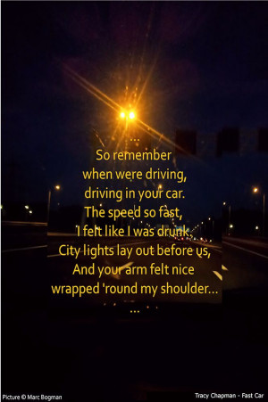 Bogman's Lyrics Quotes - #19: Tracy Chapman - Fast Car