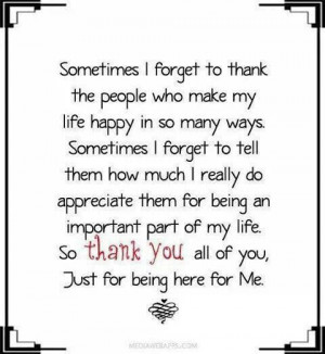 Beautiful thank you quote