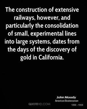 ... systems, dates from the days of the discovery of gold in California