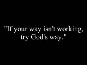 God's way is best