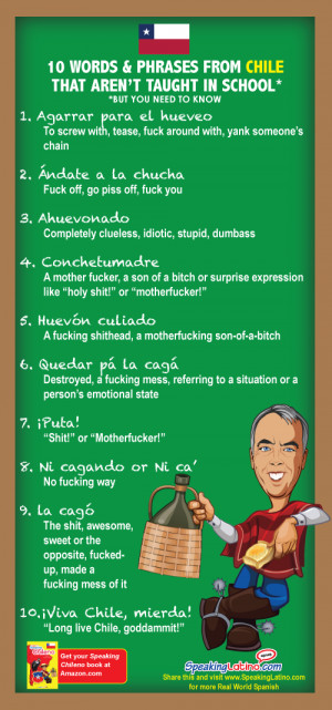 10 Vulgar Spanish Slang Words and Phrases from Chile: Infographic