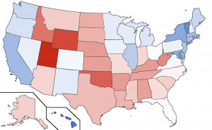 Red Vs Blue States 2014 States