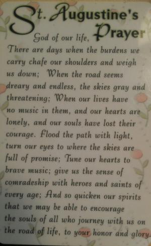 Saint Augustine's prayer