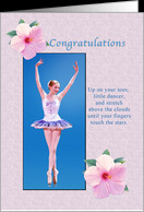 Congratulations, Dance Recital, Ballerina card - Product #776263