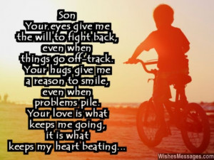 Dear son quote beautiful words of love from mom dad 640x480 Birthday ...
