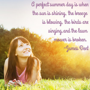 Quote - A perfect summer day is when the sun is shining, the breeze is ...