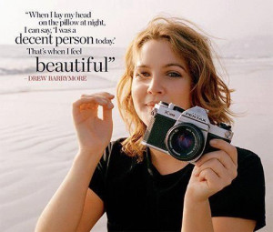 Drew barrymore quote that I love . Well said .