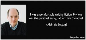 Alain de botton essays