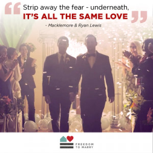 ... sends a national message of equality with 'Same Love' performance