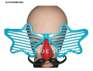 Fancy dress party dress up supplies wacky mask funny glasses and funny ...