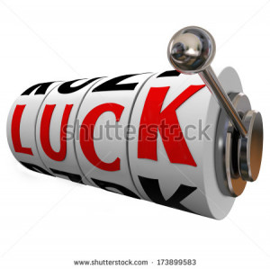 Stock Photo Luck Word Slot
