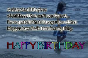 ... Happy Birthday Sister Quotes, e greeting cards and wishes in a beach