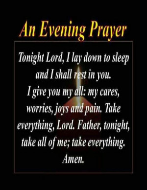Prayer Quotes From The Bible An evening prayer