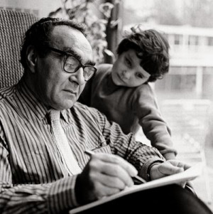 Jacob Bronowski and Daughter, 1961. Photograph credit: Sandra Lousada.