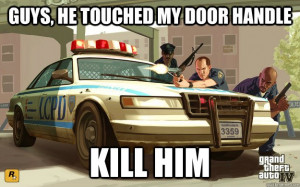 Grand Theft Auto 4 Police Officers Are Very Sensitive About The Cars