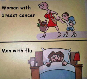 WOMAN WITH BREAST CANCER VS MAN WITH FLU