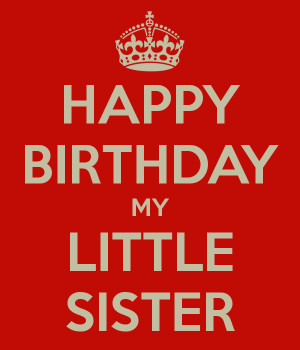 happy birthday little sister cards