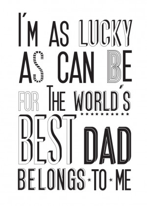 world s best dad print £ 25 00 typographic print for the best dad in ...