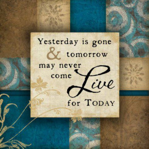 Myspace Graphics > Life Quotes > yesterday is gone Graphic
