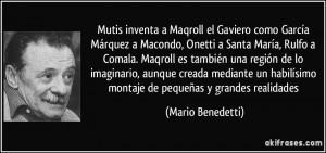 Gaviero como García Márquez a Macondo, Onetti a Santa María, Rulfo ...