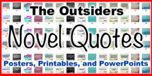 The Outsiders Novel Quotes Printable Posters