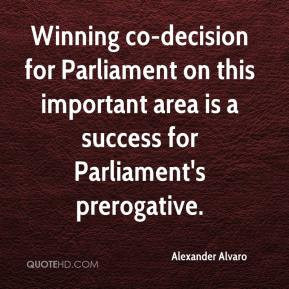 ... Parliament on this important area is a success for Parliament's