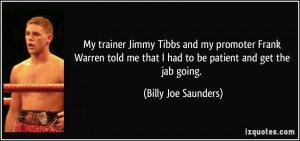 More Billy Joe Saunders Quotes