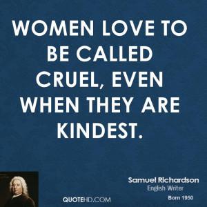 Samuel Richardson Women Quotes