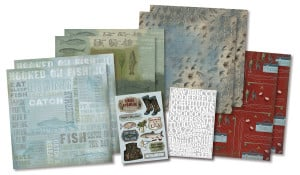 ... Foster Design - Fishing Collection - Scrapbook Kit - Born To Fish