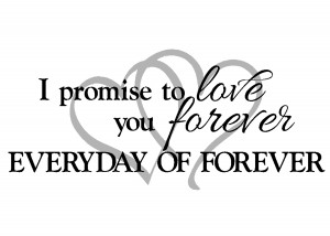 promise to love you forever with hearts