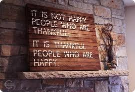 Thankfulness = Happiness